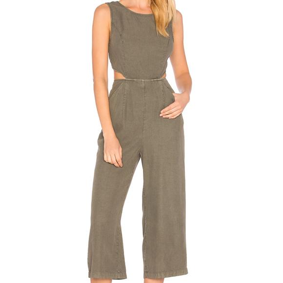 64c76b7eb491 Avec Les Filles Pants - Avec Les Filles Womens Evergreen Tie Back JumpSuit